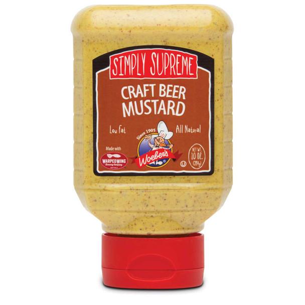 Craft Beer Mustard 10 oz - Woebers Mustards & Mayos The Nut House