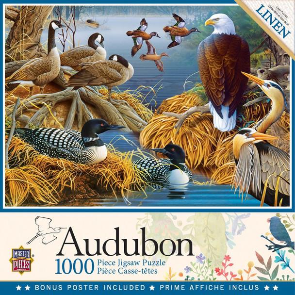 Audubon - Lake Life 1000 Piece Jigsaw Puzzle