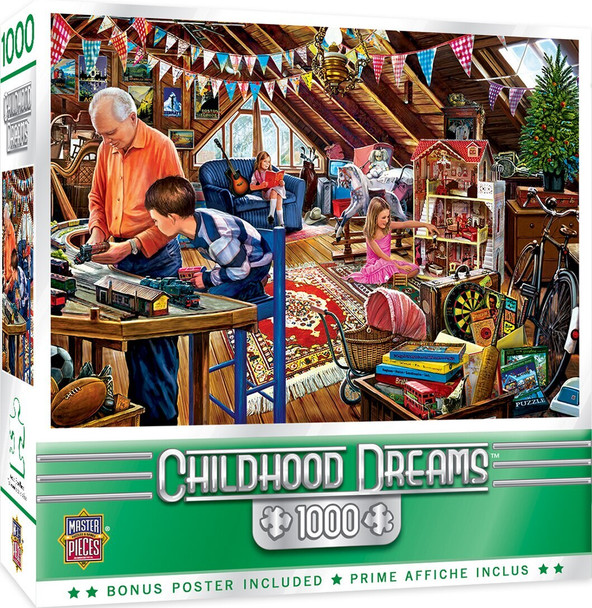 Childhood Dreams - Playtime in The Attic - 1000 Piece Jigsaw Puzzle