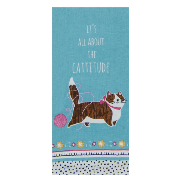 All About The Cattitude Tea Towel