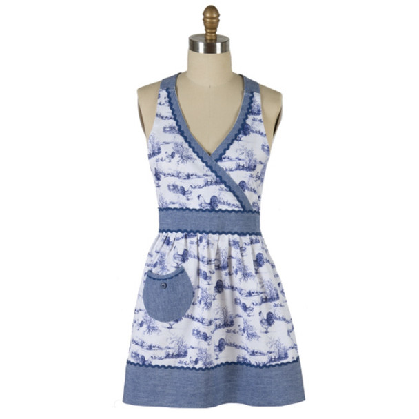 Blue Rooster Hostess Apron