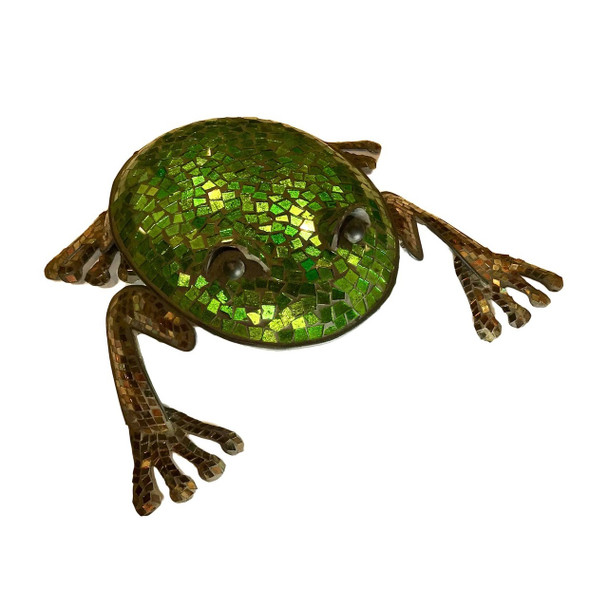 Mosaic Glass And Metal Garden Frog