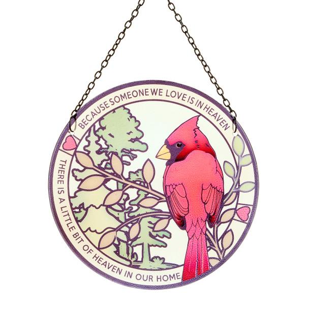 Cardinal Suncacher 8 inches across with inspirational design