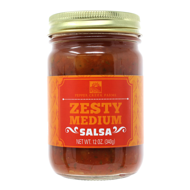 Zesty Medium Salsa 12 Oz. Salsa The Nut House