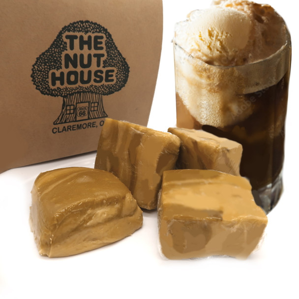 root beer float flavored fudge at The Nut House