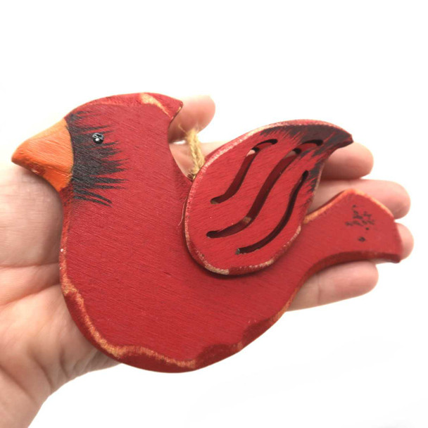 Carved Wood Cardinal Ornament Christmas Ornaments The Nut House