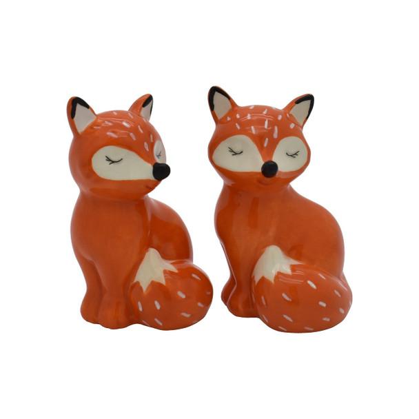 Fox Salt and Pepper Shaker Set