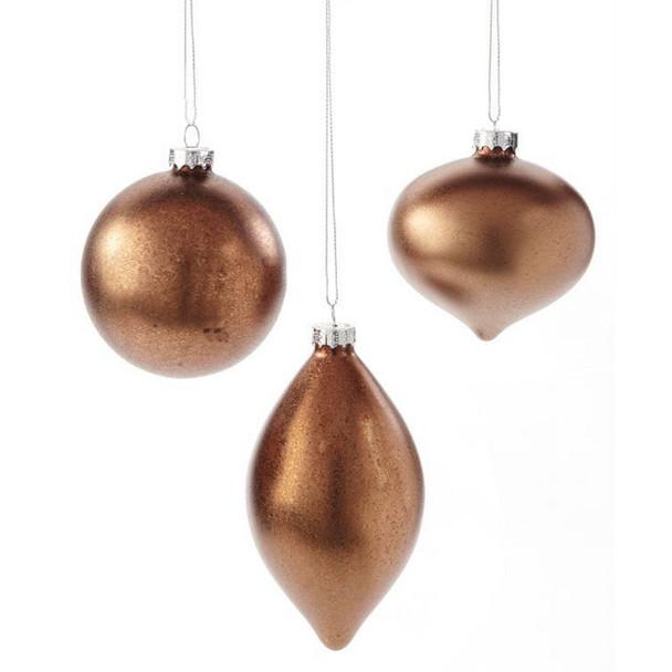 Bronze Glass Ornament