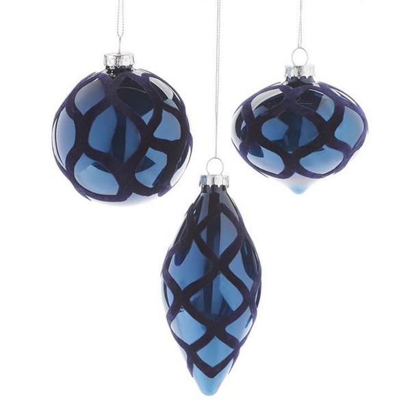 Blue Shiny Textured Ornament