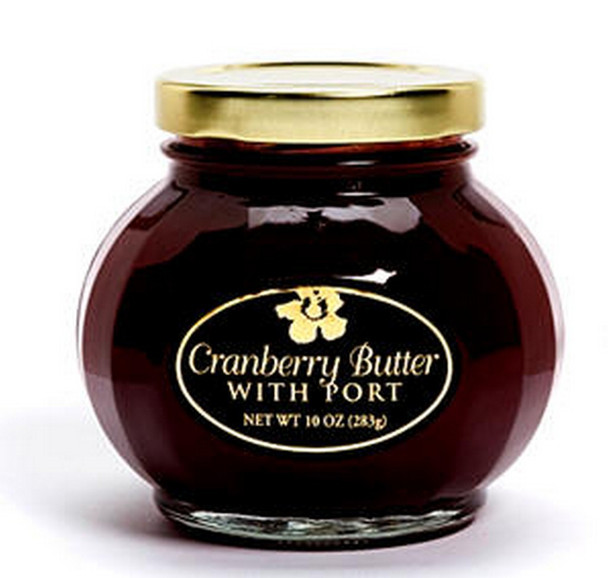 Aloha From Oregon's Cranberry Butter with Port is velvety smooth and lightly spiced. It is perfect with any meal. Top a bagel, English muffin or cheesecake. You can also use as a glaze for turkey or spread on a sandwich.
