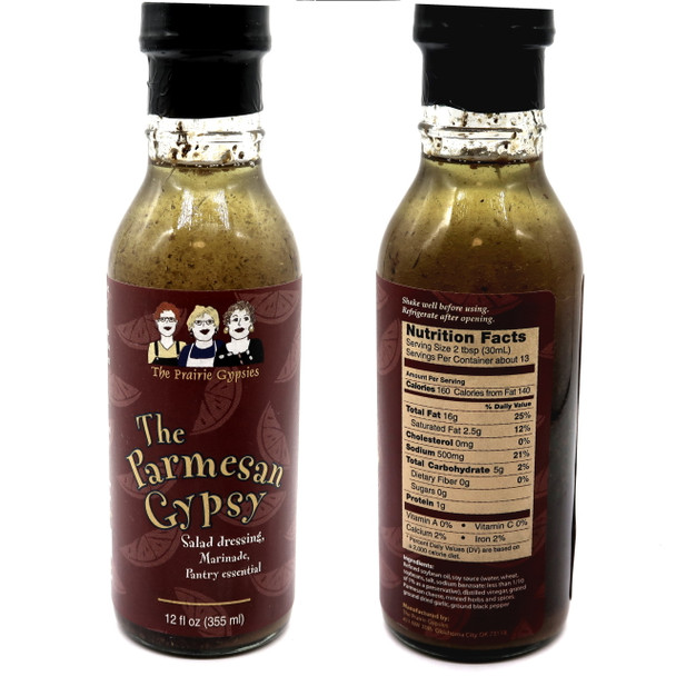 Many other uses besides just an excellent salad dressing. Our marinated mushrooms soak in the flavors on stove top and are the talk of the town. Marinate chicken, pork and beef in this overnight and never prepare meat another way again. Drizzle over a baked potato, hot pasta, dip in a piece of French bread or spread as a base on a pizza crust. The Parmesan Gypsy is a unique blend of oil, soy sauce, herbs and Parmesan cheese...you'll see why we call it a pantry essential.