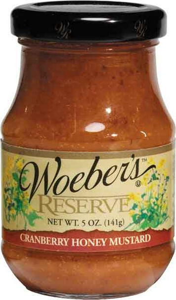 Woeber's Cranberry Honey Mustard is a classic paired with meats for an unforgettable sandwich.