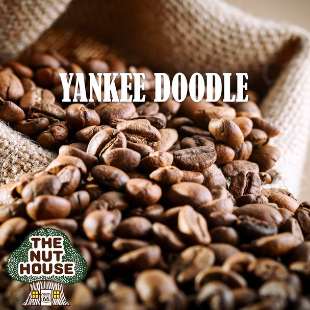 <p><span>Yankee Doodle flavored coffee beans: just like a Snickerdoodle cookie, creamy hazelnut and cinnamon.</span></p>