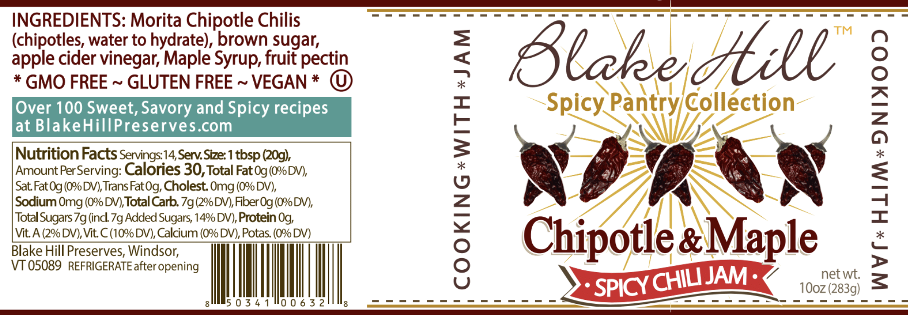CHIPOTLE & MAPLE CHILI JAM NUTRITION FACTS