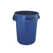 BRUTE 32-gal Recycling Bin without Lid and Recycling Symbol Print - Blue