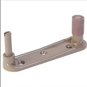 """Type D Combination Bracket, 4-1/4"""" from pin-pin, 1 loose & 1 solid pin bracket, pair, for Pew Kneeler"""