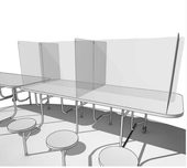 """Table Divider 3/16"""" Clear Polycarbonate Center"""