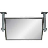"""Meek Demonstration Mirror, Adjustable Angle, Acrylic, with 36"""" supports - 40""""W x 23""""H"""