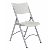 600 Folding Chair with Blow-Molded Seat & Back, Speckled gray, 4/ctn