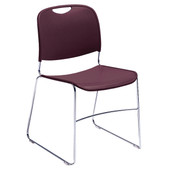 8500 Series Sled Base Stack Chair w/Poly Seat & Back