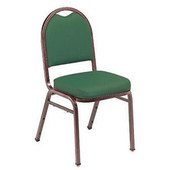 9250/9260 Dome-back Stack Chair with Fabric Upholstered Seat & Back, 4 per carton, Silverstein frame