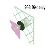 SignGrabber Banner Mounting Disc for use with SG2.