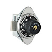 Zephyr Key Controlled Combination Lock for Lockers with Handles and Specified Serial Number - Right Hand