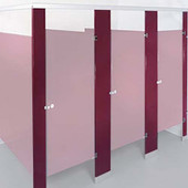 5W x 80H x 1T Pilaster, Notched for Integral Hinge, Solid Plastic, includes shoe, hardware and instructions
