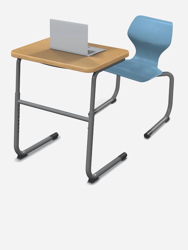 School Classroom & Student Desks