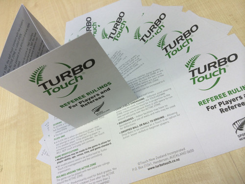 Turbo Touch Rules at a Glance (20Pk)