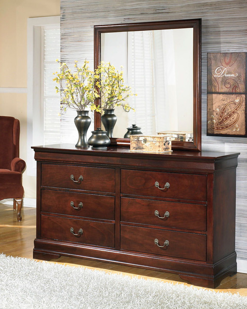 Alisdair Dark Brown Dresser & Mirror