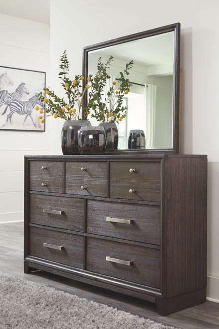 Brueban Rich Brown Dresser & Mirror