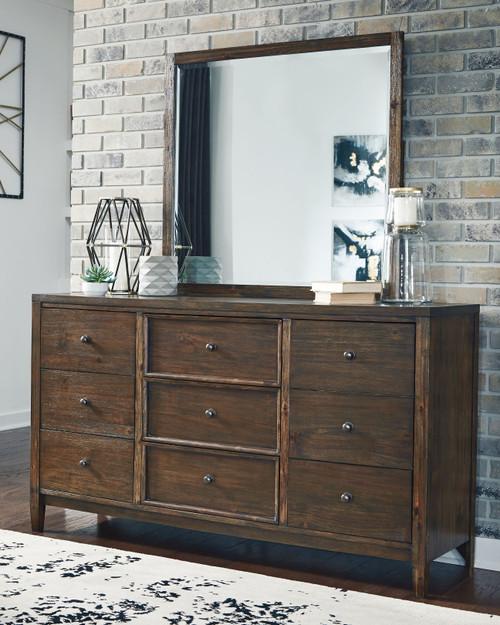 Kisper Brown Dresser & Mirror