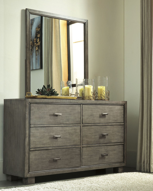Arnett Gray Dresser & Mirror