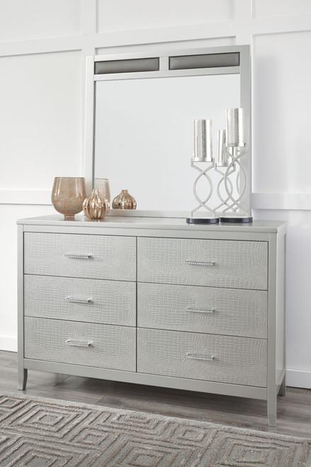 Olivet Silver Dresser & Mirror