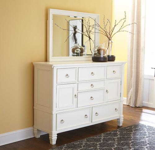 Prentice White Dresser & Mirror