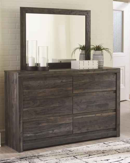 Vay Bay Charcoal Dresser & Mirror