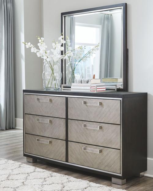 Maretto Two-tone Dresser & Mirror