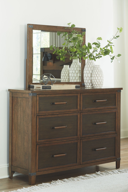 Wyattfield Two-tone Dresser, Mirror