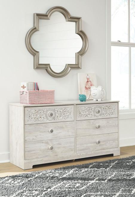 Paxberry White Aged Pine Dresser