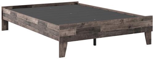 Neilsville Multi Gray Full Platform Bed