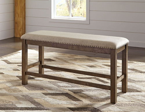 Moriville Beige Double Upholstered Bench (1/CN)