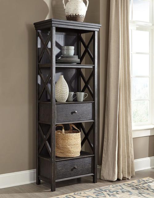 Tyler Creek Black/Gray Display Cabinet