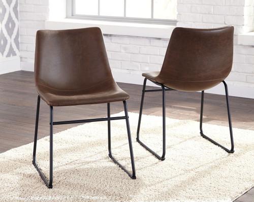 Centiar Brown/Black Dining Upholstered Side Chair (Set of 2)