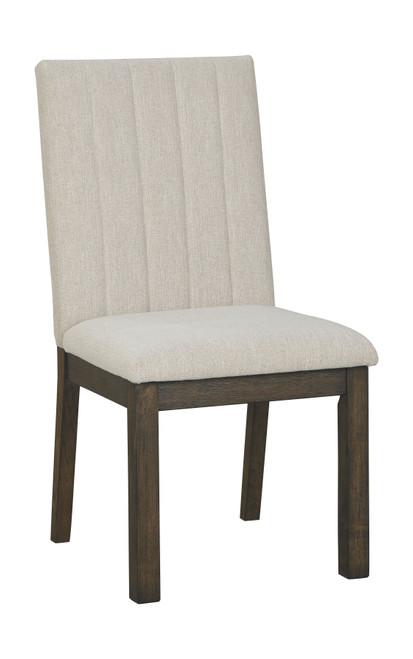 Dellbeck Beige Dining Upholstered Side Chair (Set of 2)
