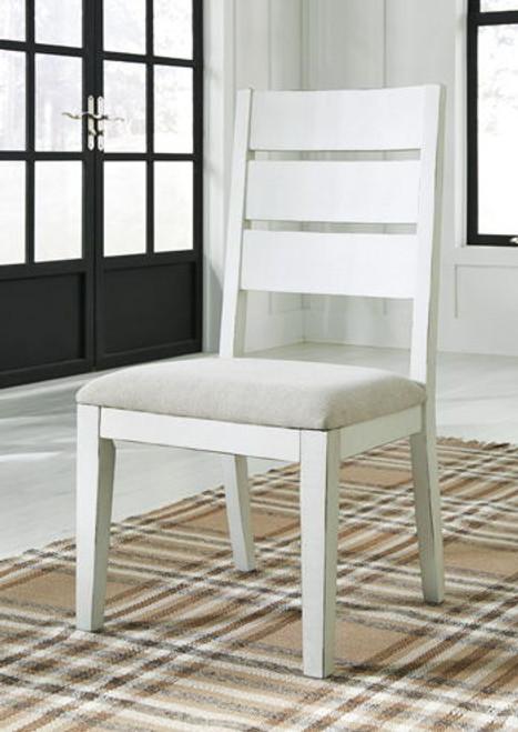 Grindleburg Antique White Dining Upholstered Side Chair (Set of 2)