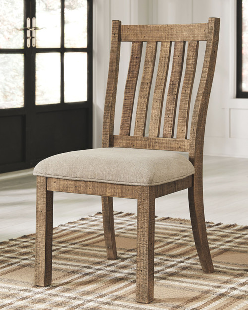 Grindleburg Light Brown Dining Upholstered Side Chair (Set of 2)
