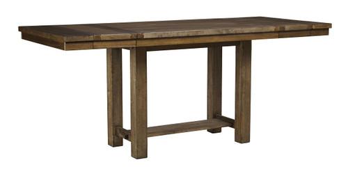 Moriville Grayish Brown Rectangular Counter Extension Table
