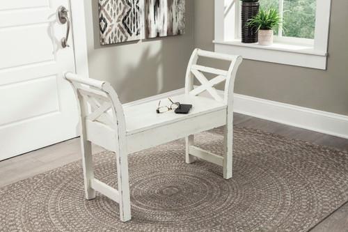 Heron Ridge White Accent Bench