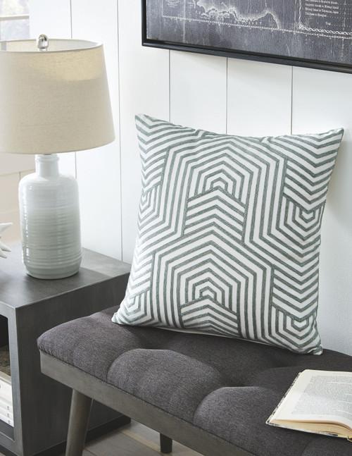 Adrik Green Pillow  (4/CS)